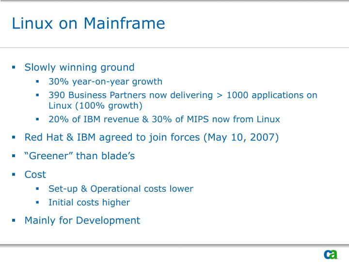 Linux on Mainframe