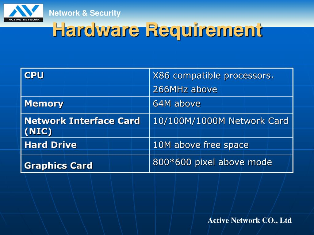 Hardware Requirement