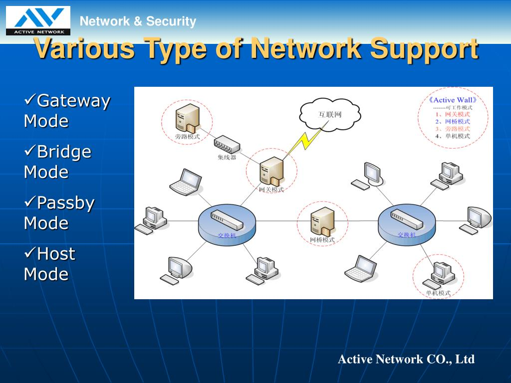 Various Type of Network Support
