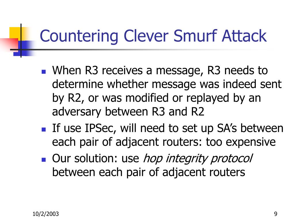 Countering Clever Smurf Attack