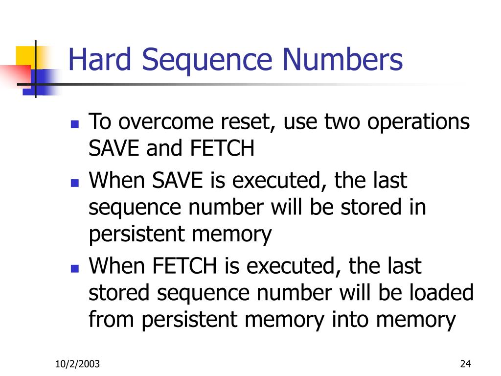 Hard Sequence Numbers