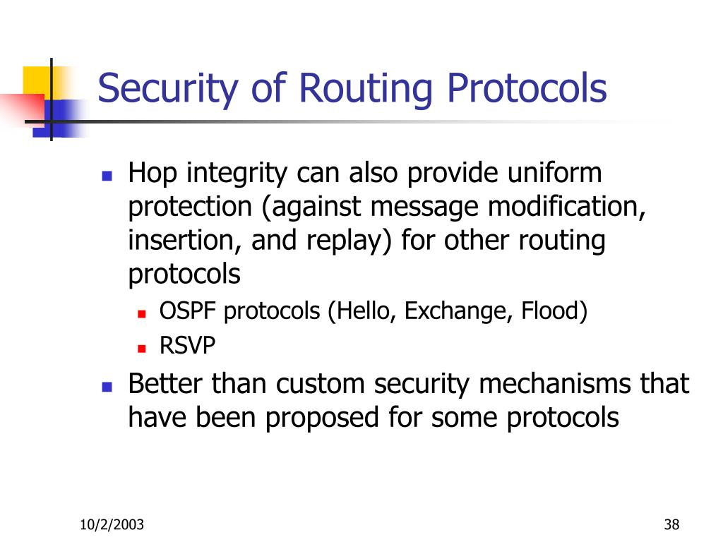 Security of Routing Protocols