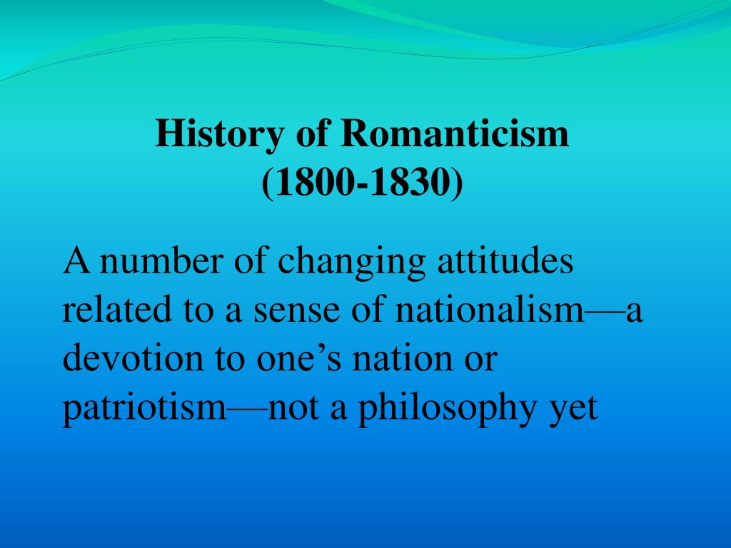 History of Romanticism