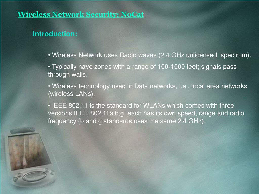 Wireless Network Security: NoCat