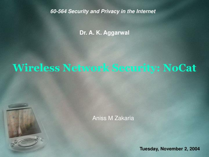 Wireless network security nocat