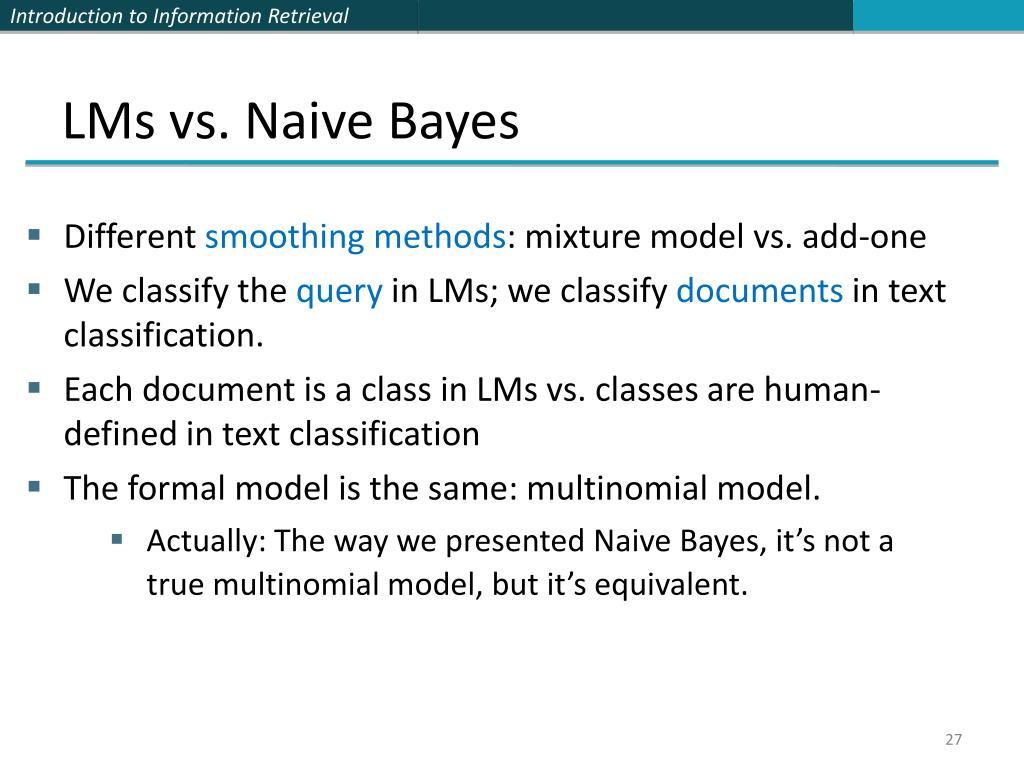 LMs vs. Naive