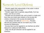 network level defense37