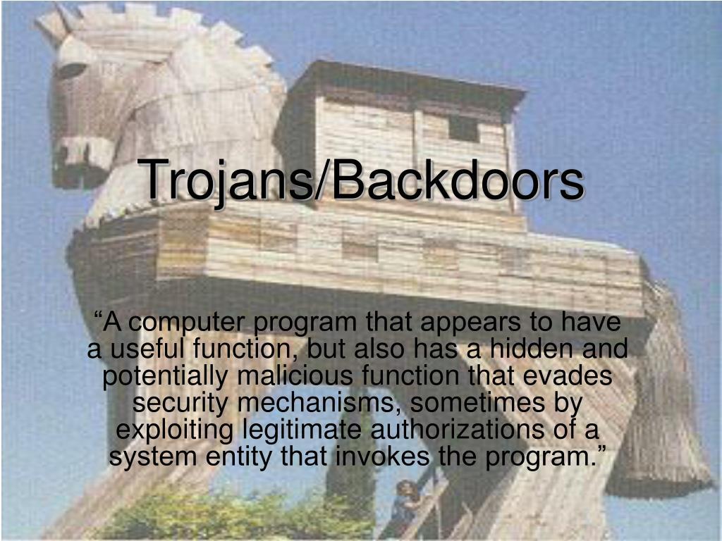 Trojans/Backdoors
