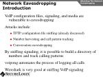 network eavesdropping introduction