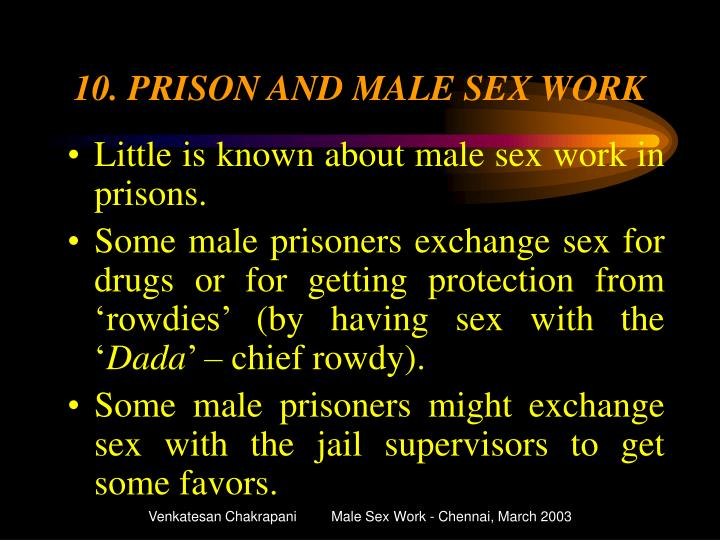 10. PRISON AND MALE SEX WORK