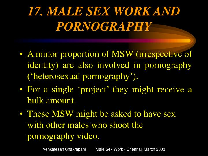 17. MALE SEX WORK AND PORNOGRAPHY