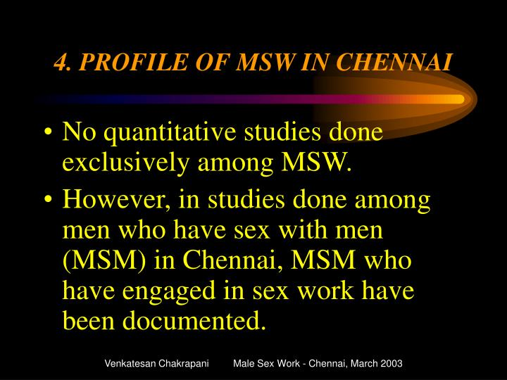 4. PROFILE OF MSW IN CHENNAI