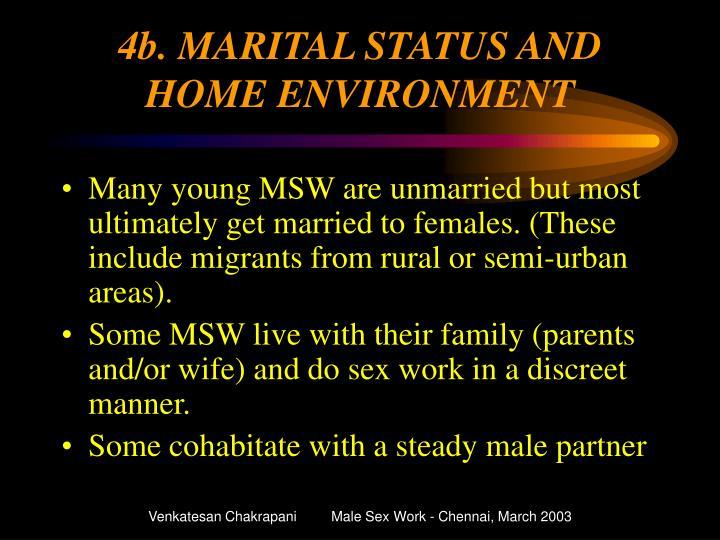 4b. MARITAL STATUS AND HOME ENVIRONMENT