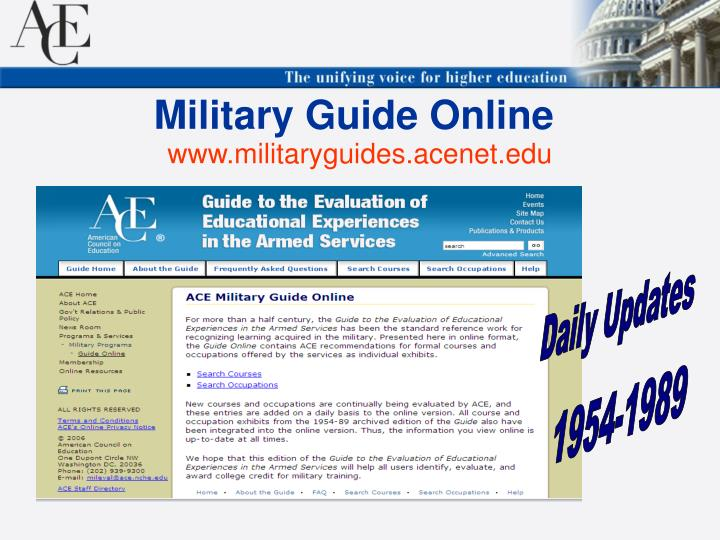Military Guide Online