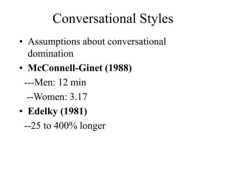 Conversational Styles