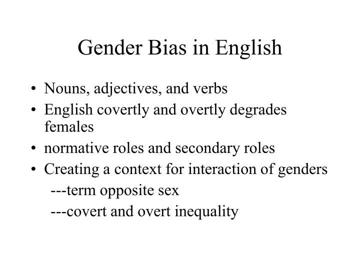 Gender Bias in English