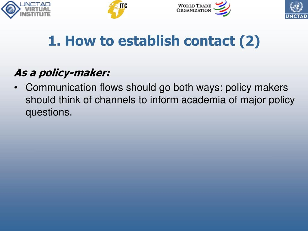 1. How to establish contact (2)