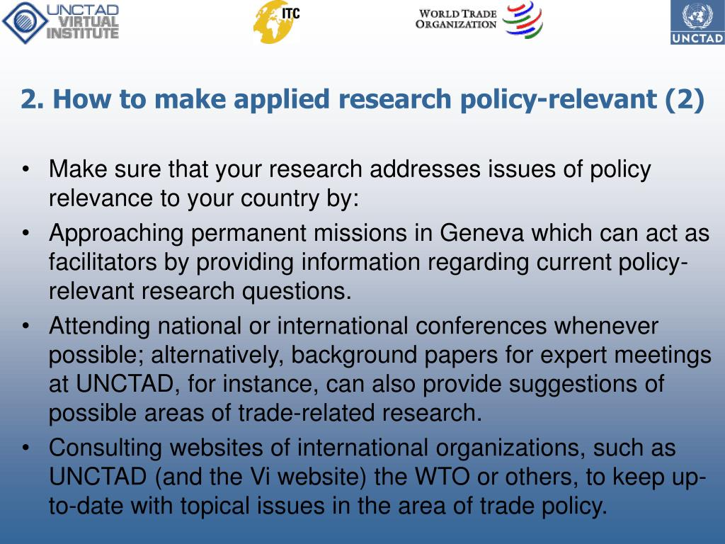 2. How to make applied research policy-relevant (2)