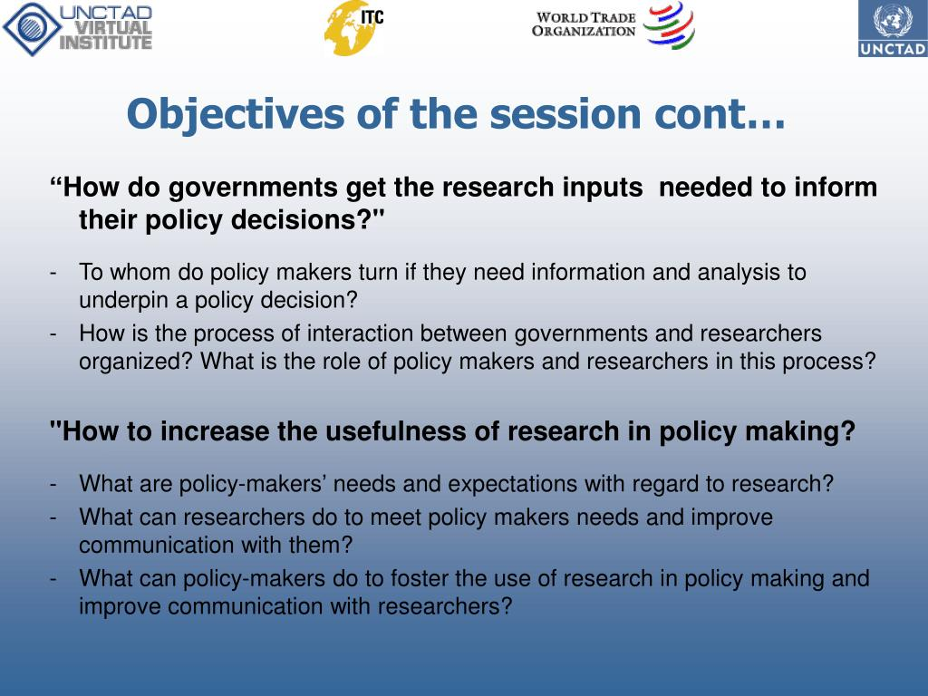 Objectives of the session cont…