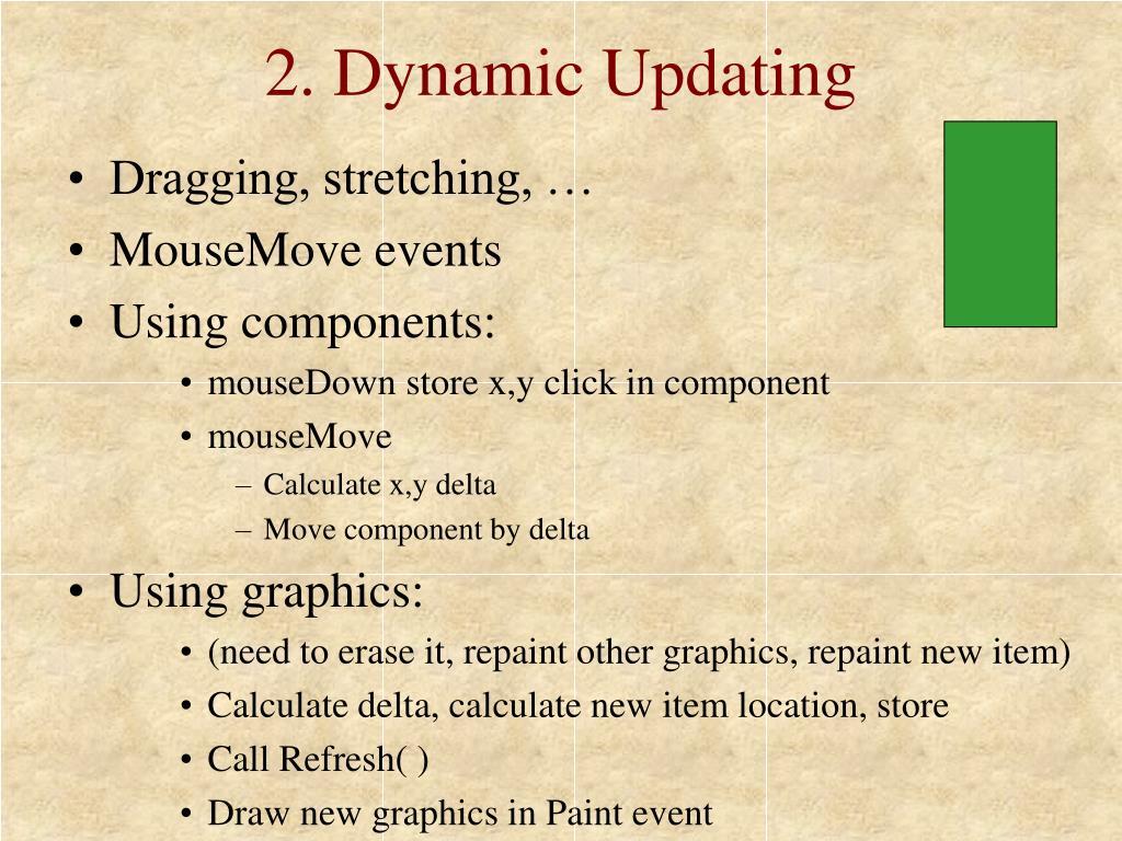2. Dynamic Updating