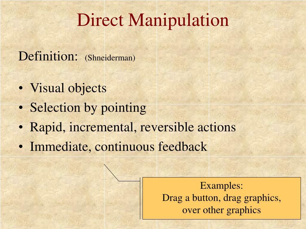 Direct Manipulation