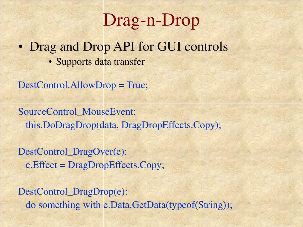 Drag-n-Drop