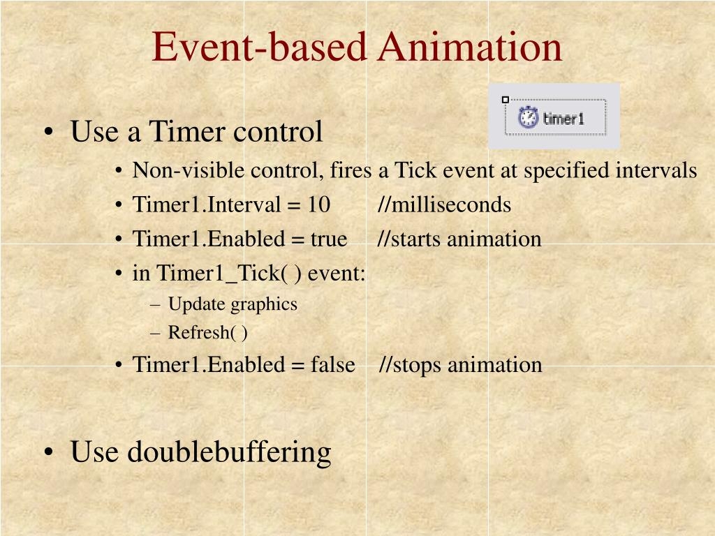 Event-based Animation
