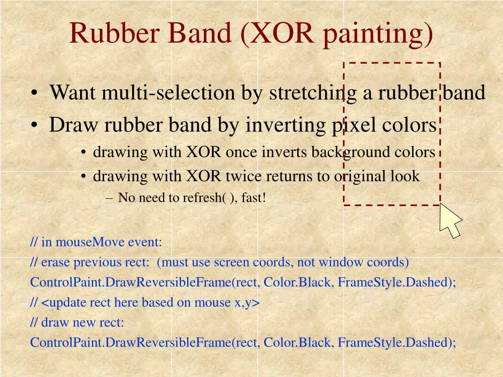 Rubber Band (XOR painting)