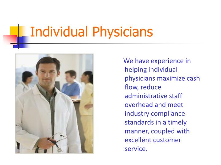 Individual Physicians