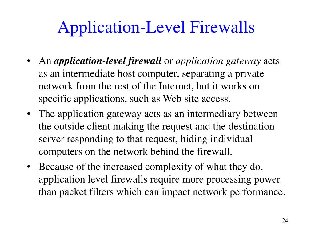 Application-Level Firewalls