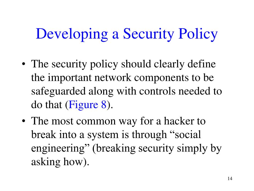 Developing a Security Policy