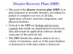 disaster recovery plans drp