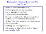 elements of a disaster recovery plan see figure 7