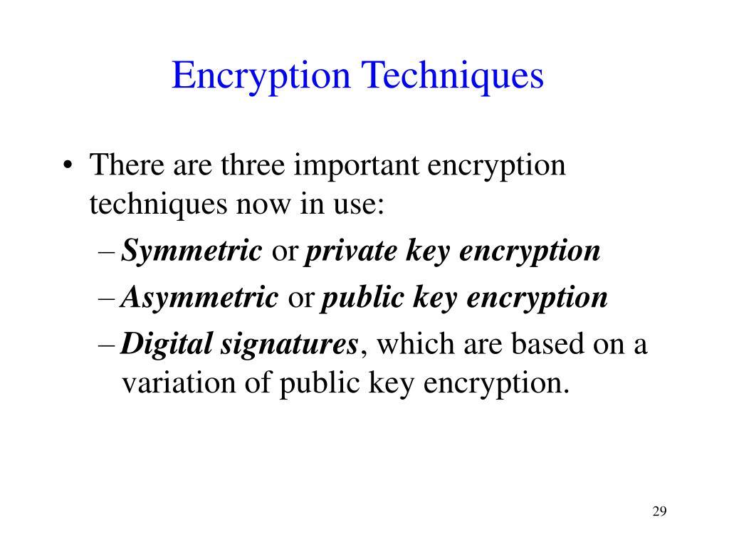 Encryption Techniques