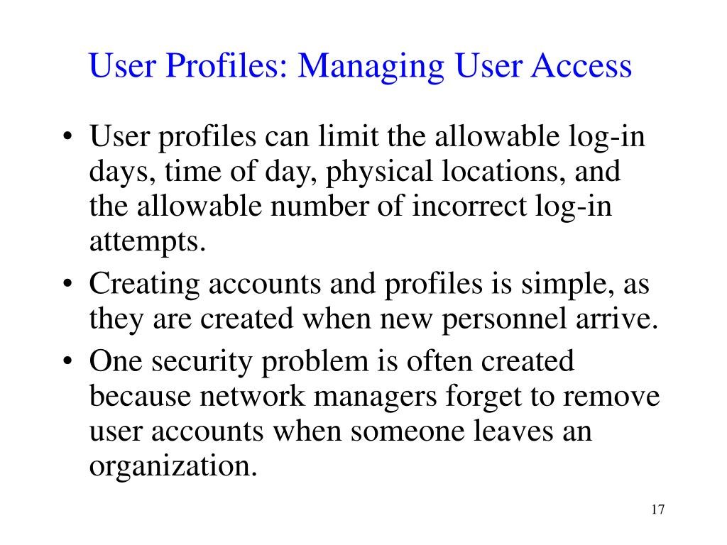 User Profiles: Managing User Access