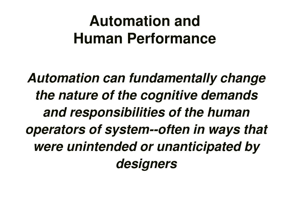 Automation and