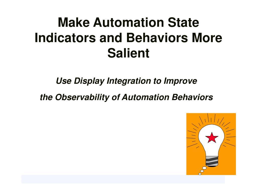 Make Automation State