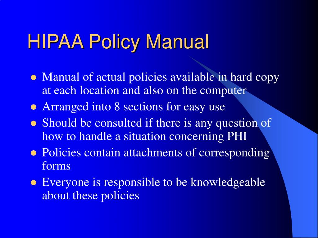 HIPAA Policy Manual