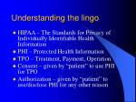 understanding the lingo