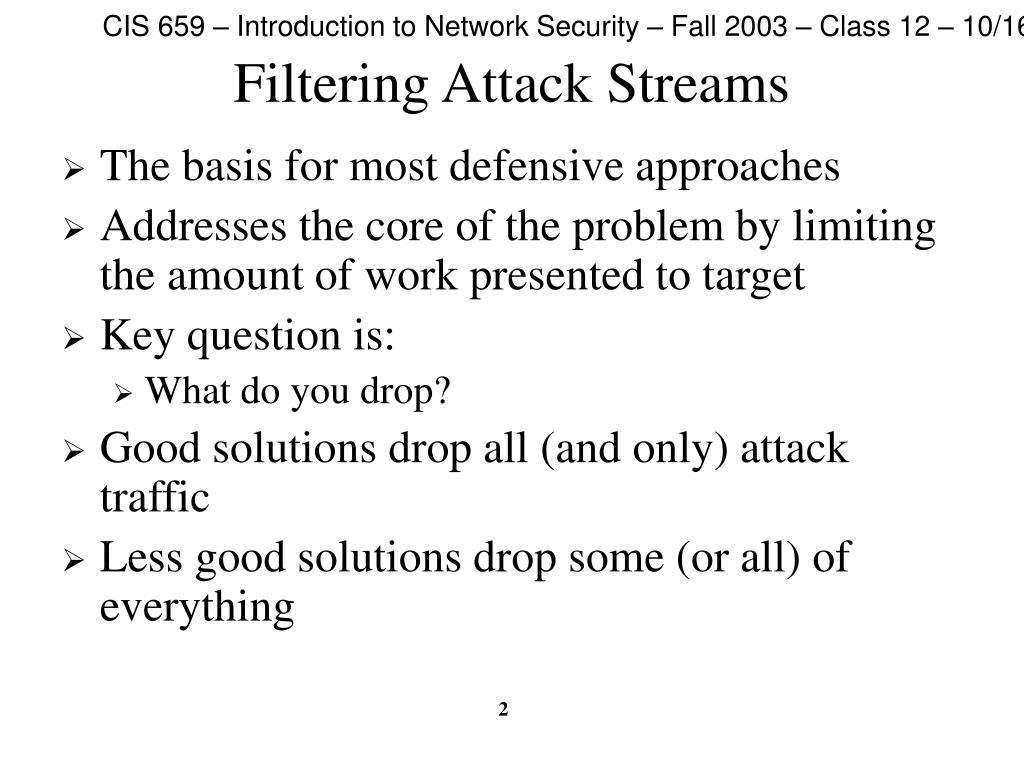 Filtering Attack Streams