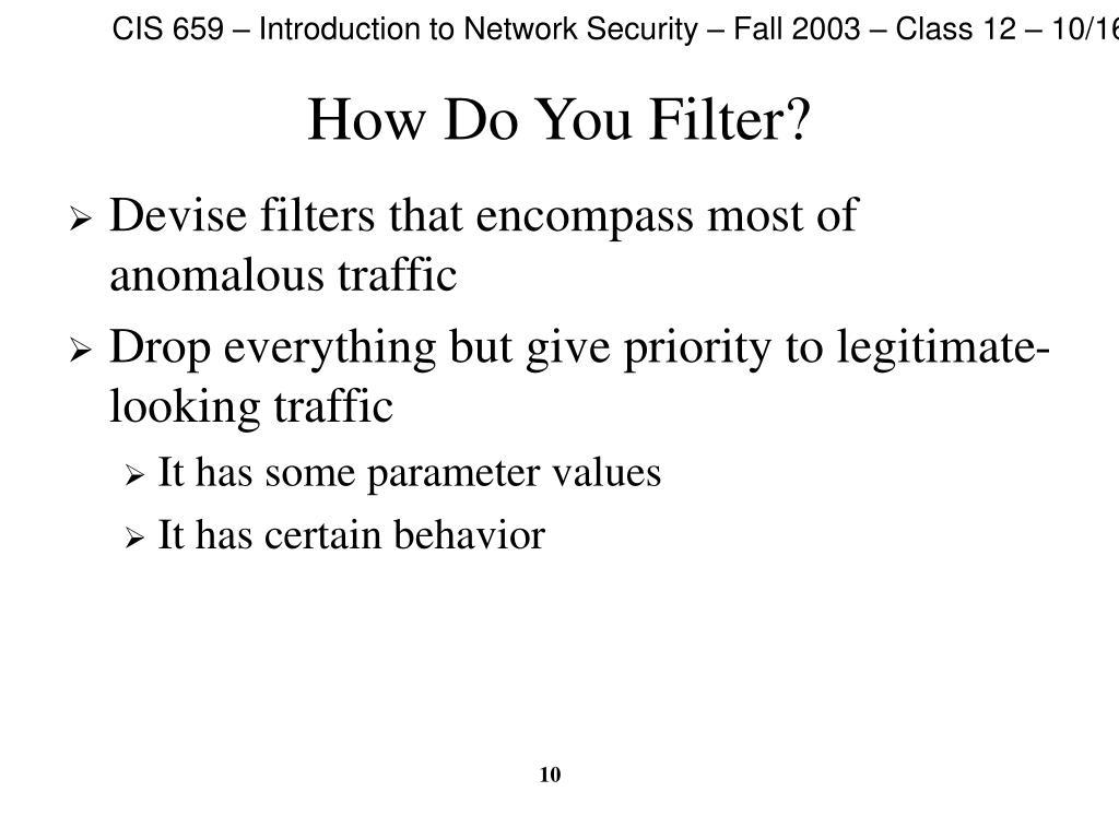 How Do You Filter?