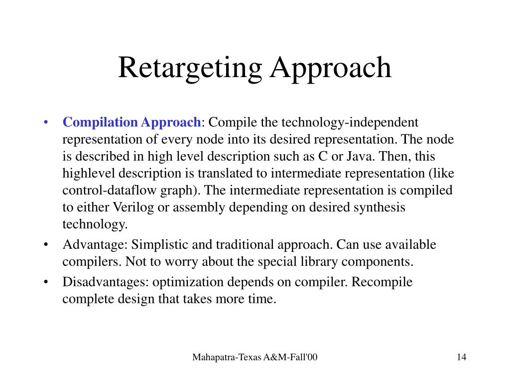 Retargeting Approach