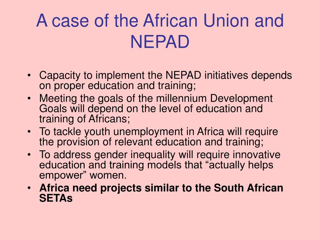 A case of the African Union and NEPAD