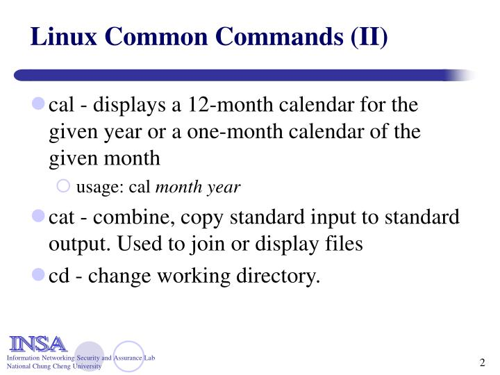 Linux common commands ii