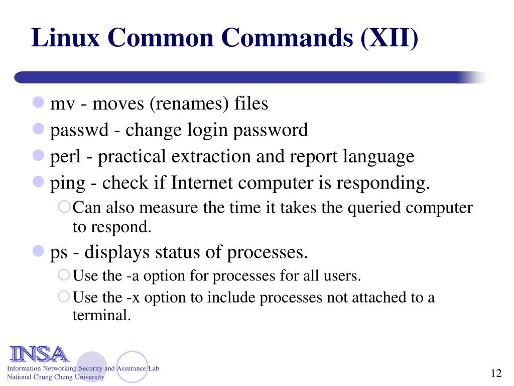 Linux Common Commands (XII)