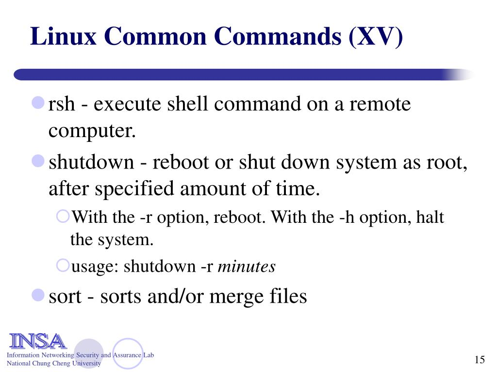 Linux Common Commands (XV)
