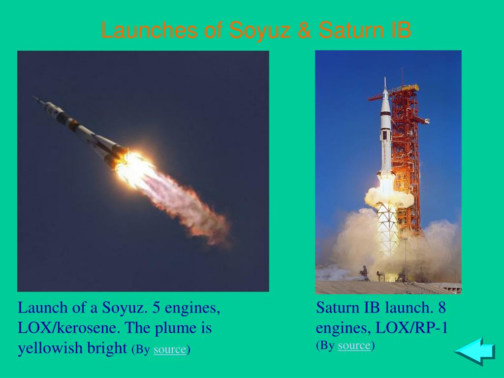 Launches of Soyuz & Saturn IB