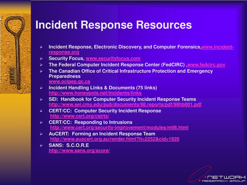 Incident Response Resources