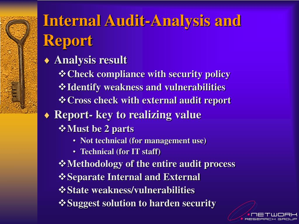 Internal Audit-Analysis and Report