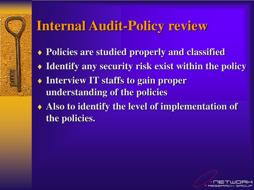 Internal Audit-Policy review
